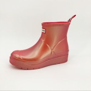 Hunter Original Short Nebula Play Rain Boots Pink